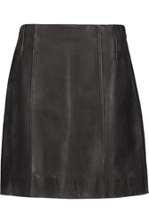 Marc By Marc Jacobs Distressed Leather Mini Skirt Black