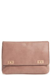 Topshop 'Vintage Cable' Clutch Beige Taupe