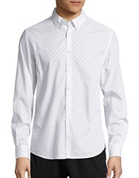 Kenneth Cole Patterned Sportshirt White