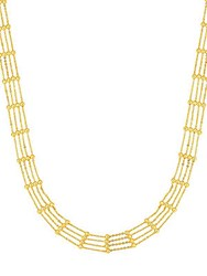 Saks Fifth Avenue 14K Yellow Gold Multi Row Cahin Necklace