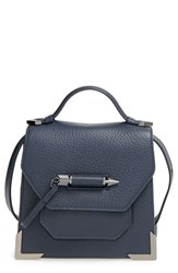 Mackage 'Mini Rubie' Crossbody Satchel Blue Ink Shiny Nickel