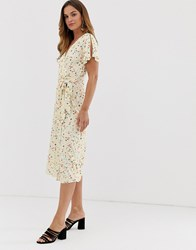 French Connection Roseau Meadow Midi Dress White