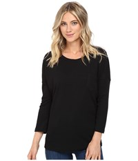 Culture Phit Alana 3 4 Sleeve Waffle Top With Pocket Black Women's Clothing