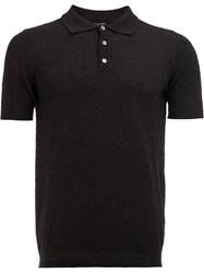 Roberto Collina Classic Polo Shirt Black
