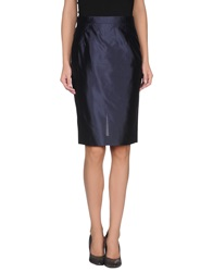 Gai Mattiolo Knee Length Skirts Dark Blue