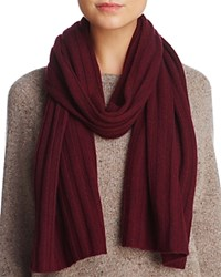 Bloomingdale's C By Elevated Ribbed Cashmere Scarf 100 Exclusive Burgundy