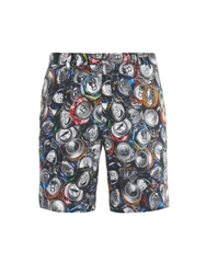 Moschino Crushed Can Print Cotton Shorts