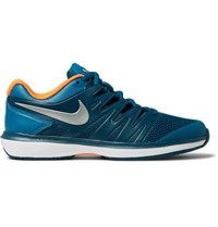 Nike Tennis Air Zoom Prestige Rubber Trimmed Mesh Tennis Sneakers Blue