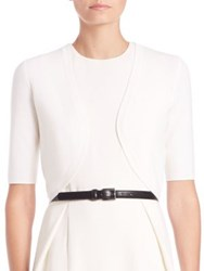 Michael Kors Merino Wool Shrug White Black
