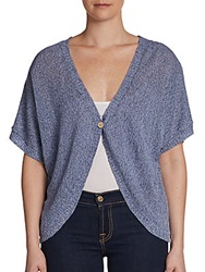 Cullen Marl Dolman Sleeve Shrug Denim