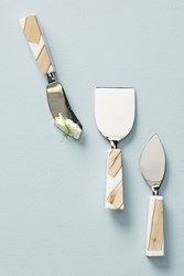 Anthropologie Catbird Cheese Knife Set Neutral Motif