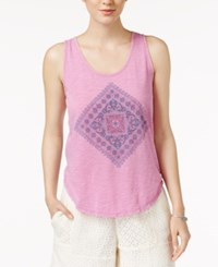Lucky Brand Printed Tank Top Violet