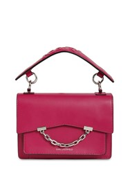 Karl Lagerfeld Seven Small Faux Leather Bag Orchid