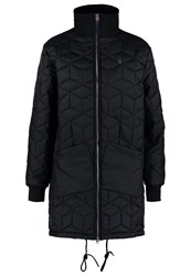 G Star Gstar New Meefic Quilted Long Overshirt Short Coat Black