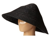 Bcbgmaxazria Lacquered Sun Hat Black Traditional Hats