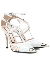 N 21 Patent Leather Pumps White