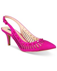 Inc International Concepts Women's Dehany Slingback Pumps Only At Macy's Women's Shoes Deep Fuchsia