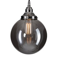 Old School Electric Globe Smoked Brown Glass Ceiling Light