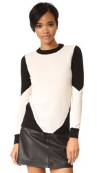 Top Secret Sullivan Sweater Ivory Black