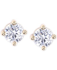 Lonna And Lilly Gold Toned Crystal Stud Earrings