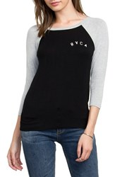 Rvca Women's Graphic Baseball Tee
