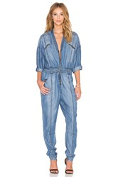 Sass And Bide Photopop Jumpsuit Blue