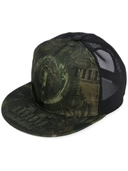 Givenchy Mesh Cap Men Acrylic Polyamide One Size Green