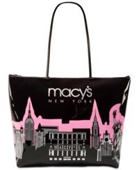 Macy's City Glitter Zip Tote Only At Pink