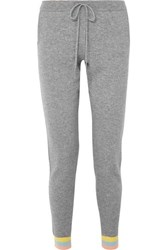 Chinti And Parker Cashmere Track Pants Gray