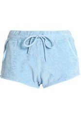 Orlebar Brown Cotton Terry Shorts Sky Blue