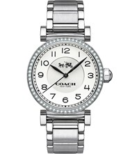 Coach 14502396 Madison Stainless Steel And Crystal Bezel Watch