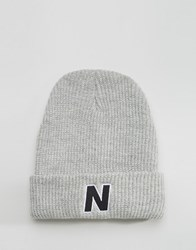 New Balance Compo Beanie Ii Bobble Grey