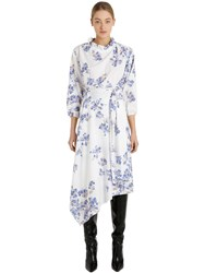Vetements Asymmetric Floral Cutout Crepe Dress