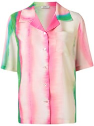 Goen.J Watercolour Stripe Print Shirt Multicolour