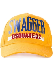 Dsquared2 'Swagger' Baseball Cap Yellow And Orange