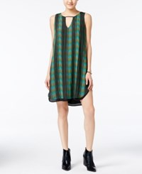 Bar Iii Printed Keyhole Shift Dress Only At Macy's Black Combo