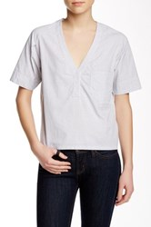 Shades Of Grey Origami Woven Tee White