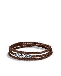 Chevron Triple Wrap Bracelet In Brown David Yurman Black