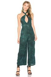 Blue Life Electra Tie Front Jumpsuit Green