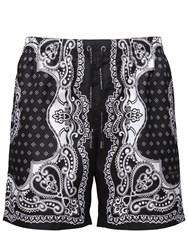 Dolce And Gabbana Logo Print Bandana Swim Shorts Black