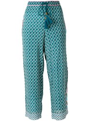 Talitha Flared Casual Trousers Blue