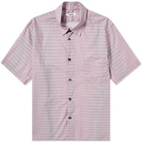 Tres Bien Short Sleeve Tiger Stripe Shirt Pink