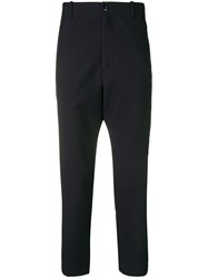 Oamc Cropped Slim Fit Trousers Blue