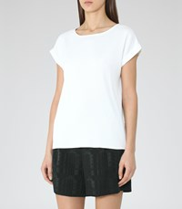 Reiss Elsie Womens Button Back Top In White