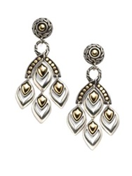 John Hardy Naga 18K Yellow Gold And Sterling Silver Chandelier Earrings No Color