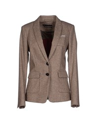 Set Suits And Jackets Blazers Women Khaki