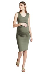 Ingrid And Isabel Pleated Tank Dress Olive