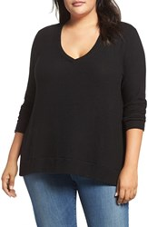 Three Dots Plus Size Women's V Neck Sweater