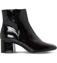 Dune Packham Patent Leather Ankle Boot Black Patent