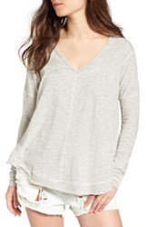 Women's Bp. Seamed Long Sleeve Tee White Mini Stripe